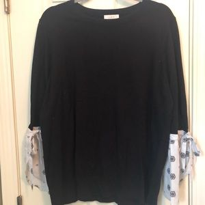 Black sweater with unique sleeves!